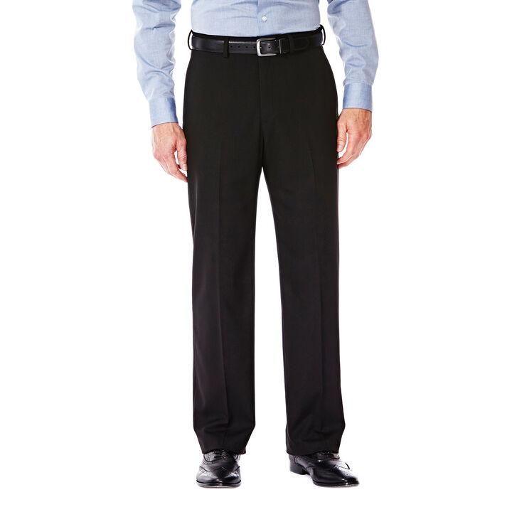 J.M. Haggar Premium Stretch Suit Pant - Flat Front, Black
