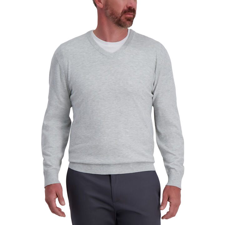 Basic V-neck Sweater, Cobalt