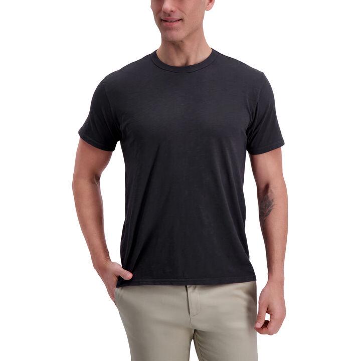 Slub Crew Shirt, Black open image in new window