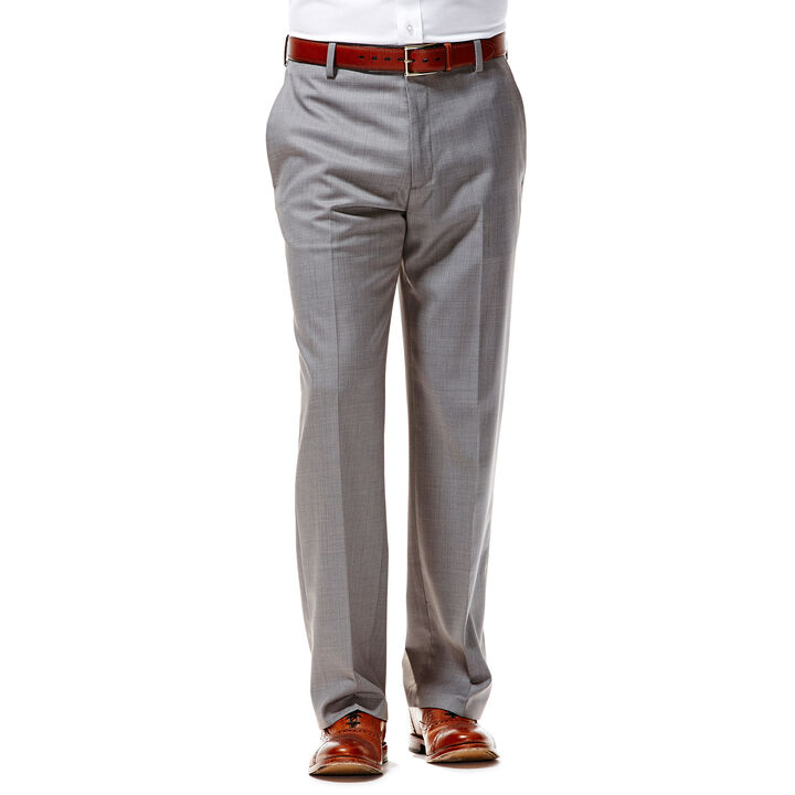 Twill Stria Dress Pant, Light Grey