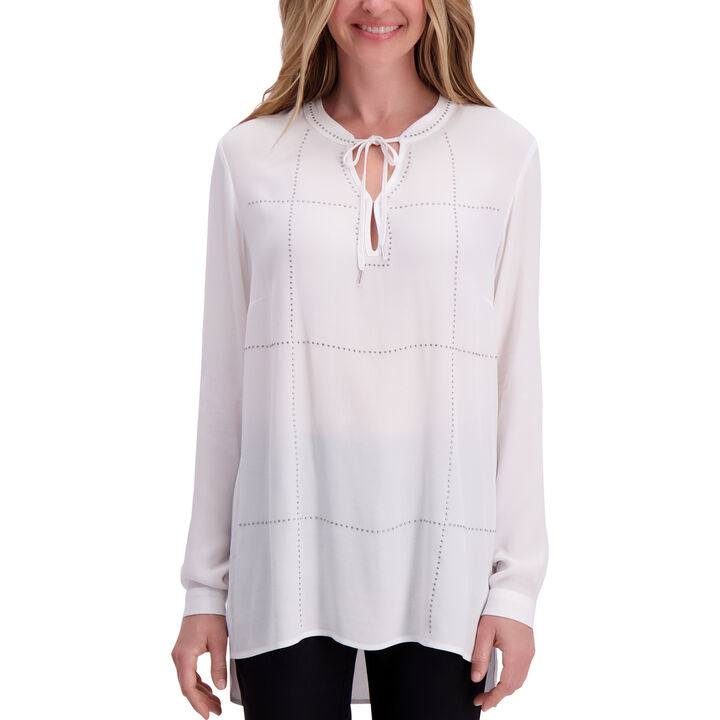 Long Sleeve Blouse,  White