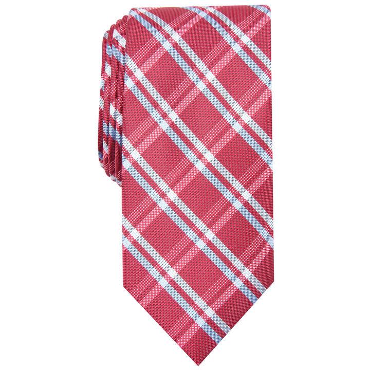 Grid Plaid Tie, Red