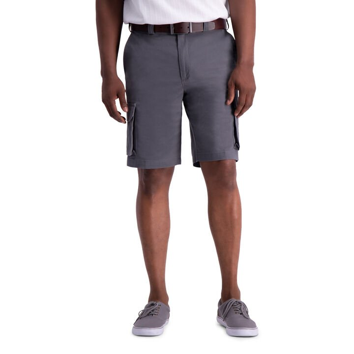 Stretch Cargo Short with Tech Pocket, Graphite open image in new window