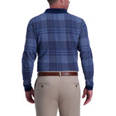 Houndstooth Long Sleeve Polo,  London Blue 2