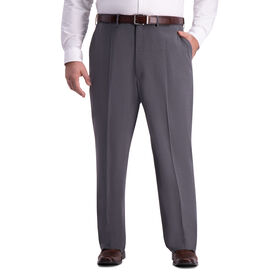 Big & Tall J.M. Haggar 4-Way Stretch Dress Pant, Medium Grey