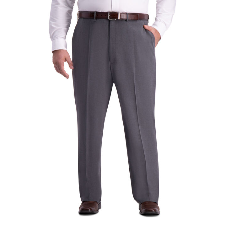 Big & Tall J.M. Haggar 4-Way Stretch Dress Pant, Medium Grey open image in new window