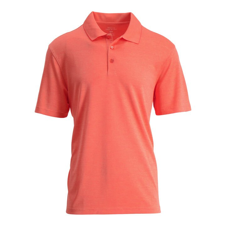 Cool 18® Pro Textured Golf Polo, Living Coral