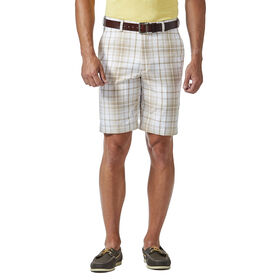 b8c9c7ee26 Cool 18® Pro Tonal Plaid Short. Regular Fit, Flat Front, Expandable  Waistband
