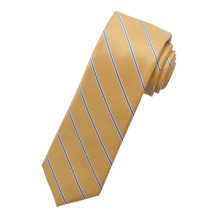 Wide Stripe Tie, Yellow