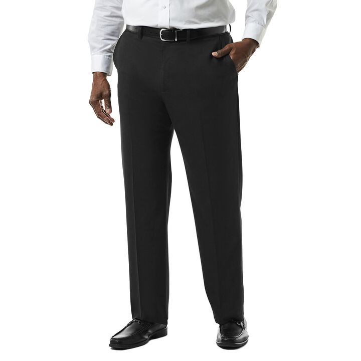 Big & Tall J.M. Haggar Premium Stretch Suit Pant - Flat Front, Black open image in new window