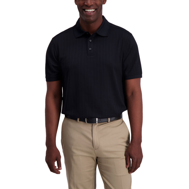 Textured Polo, Black