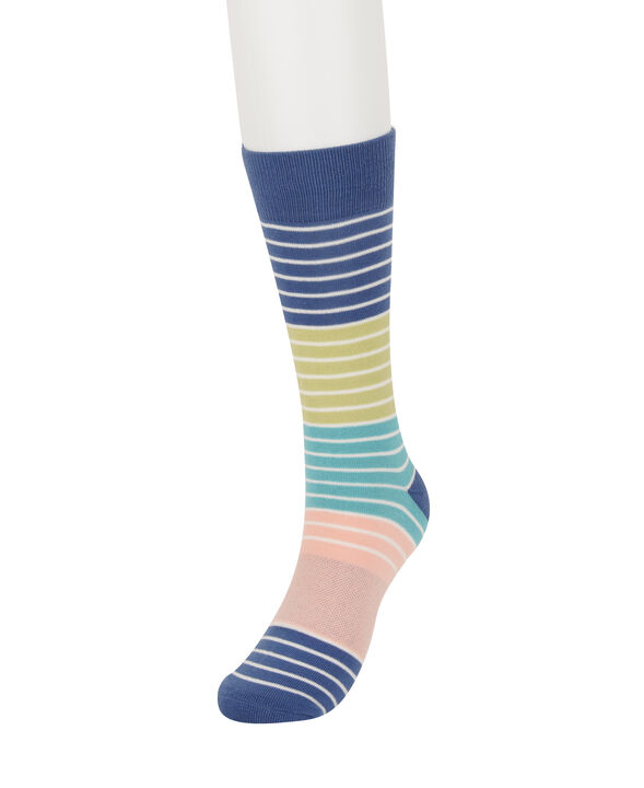 Indigo Striped Socks, Dark Navy