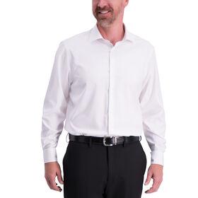 Solid J.M. Haggar Tech Performance Dress Shirt, White