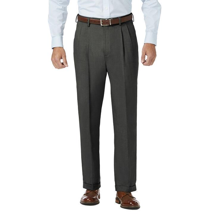 J.M. Haggar Dress Pant - Sharkskin, Medium Grey