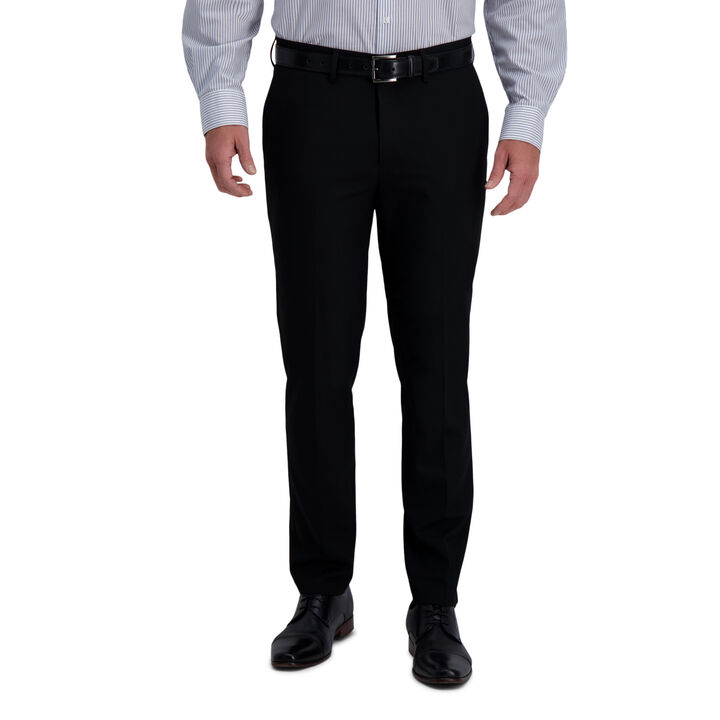 J.M. Haggar 4-Way Stretch Dress Pant - Solid, Black open image in new window