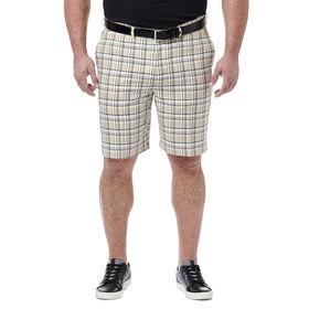 Big & Tall Cool 18® Pro Simple Plaid Short, Stone