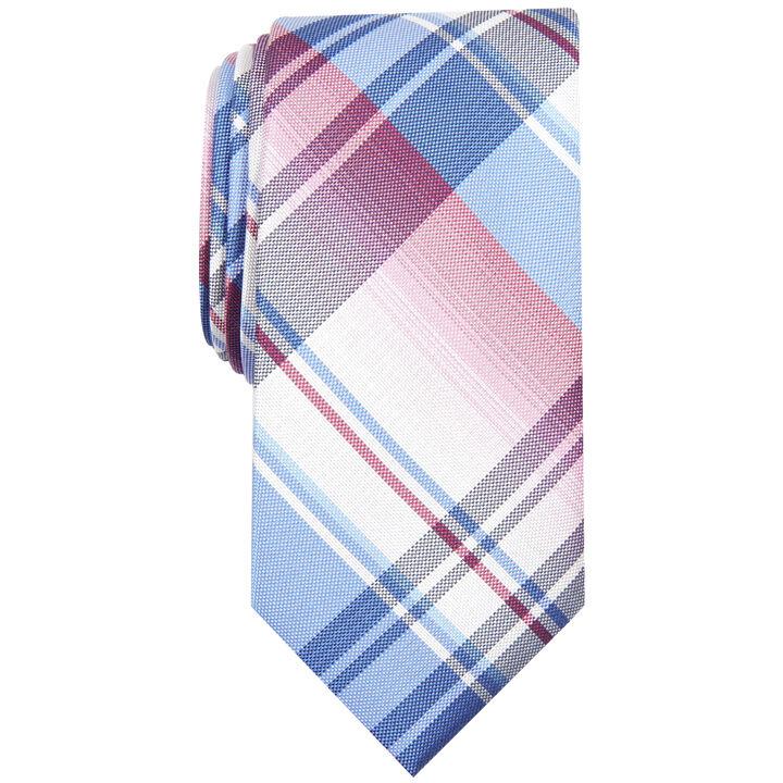 Ementh Plaid Tie, Pink