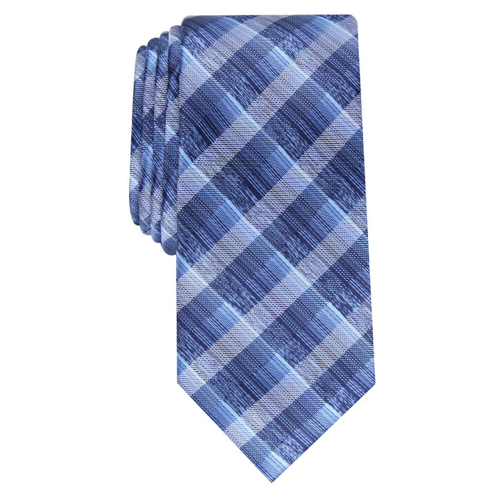 Farmers Plaid Tie, Navy