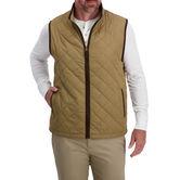 Diamond Quilted Puff Vest , Medium Beige 1