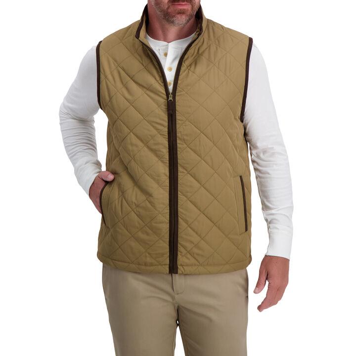 Diamond Quilted Puff Vest , Medium Beige