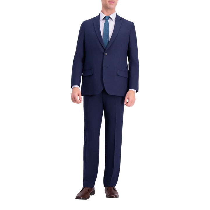 J.M. Haggar 4-Way Stretch Suit Jacket, Blue, hi-res