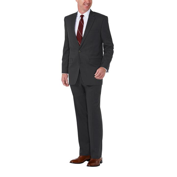 J.M. Haggar Premium Stretch Shadow Check Suit Jacket, Black / Charcoal, hi-res