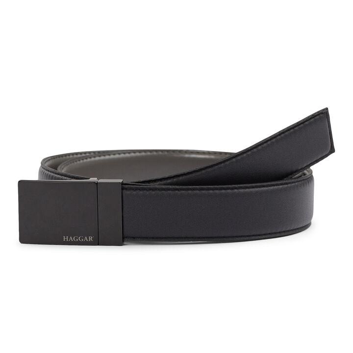 Reversible Placket Belt, Charcoal open image in new window