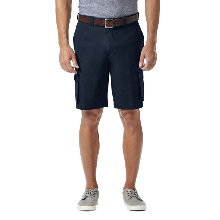 Stretch Cargo Short with Tech Pocket, Navy
