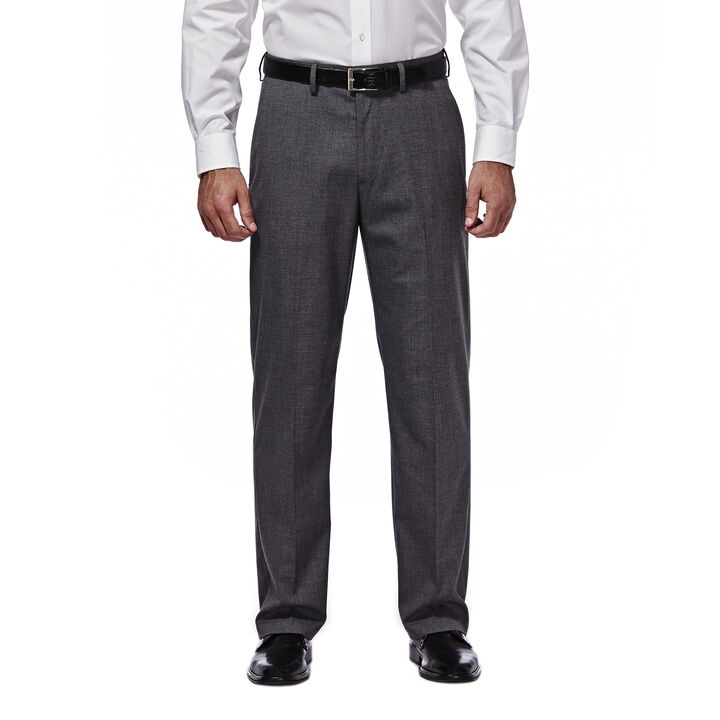 J.M. Haggar Premium Stretch Suit Pant - Flat Front, Dark Heather Grey open image in new window