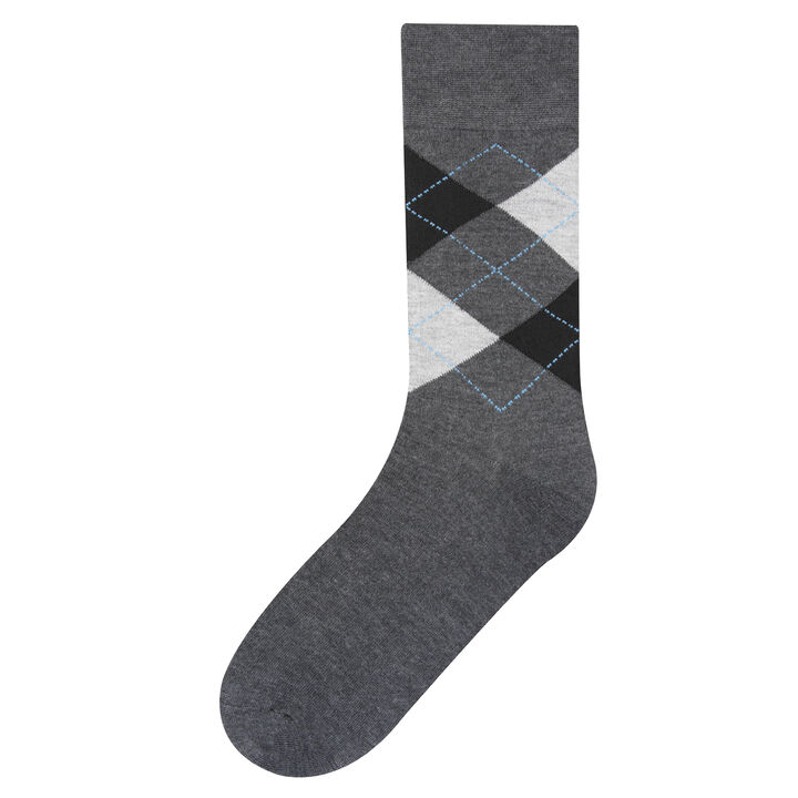 Argyle Dress Socks, Bean
