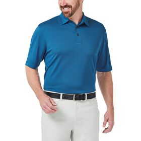 Cool 18® Textured Solid Polo, Silver