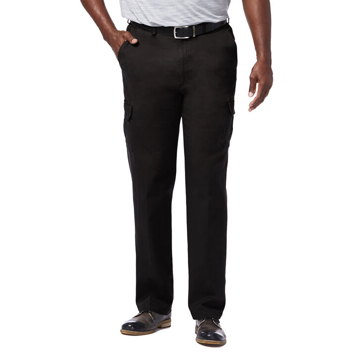 Big & Tall Stretch Comfort Cargo Pant, Black