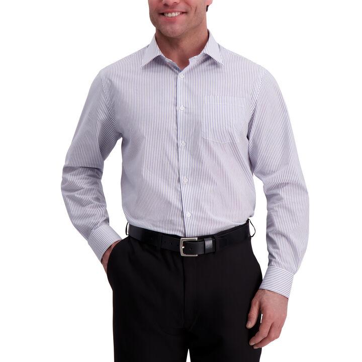 Stripe Premium Comfort Dress Shirt, Navy