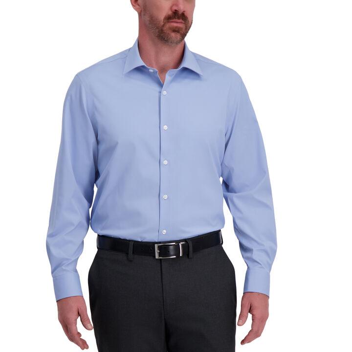 J.M. Haggar Tech Performance Dress Shirt,  Light Blue