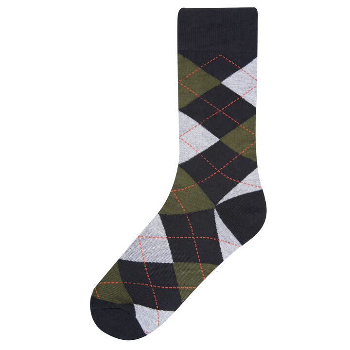 Argyle Socks, Black