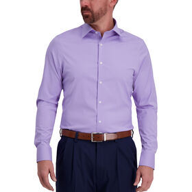 J.M. Haggar Tech Performance Lavender Dress Shirt, Purple