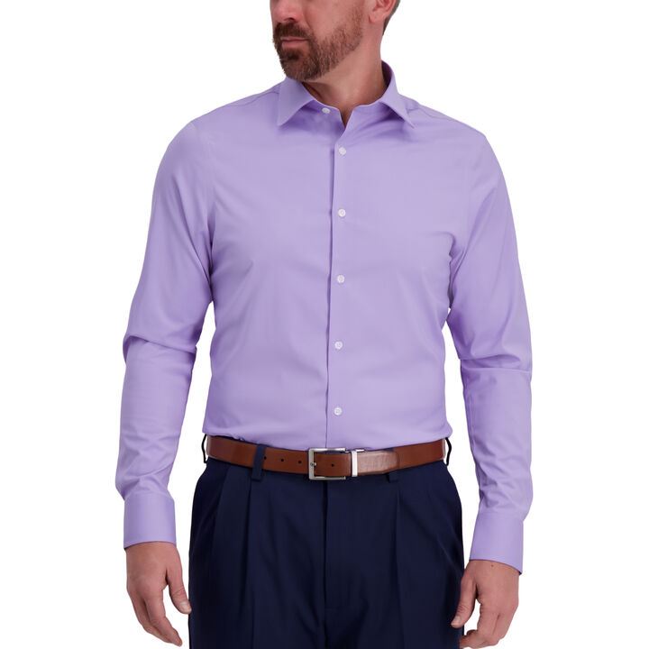 J.M. Haggar Tech Performance Lavender Dress Shirt,
