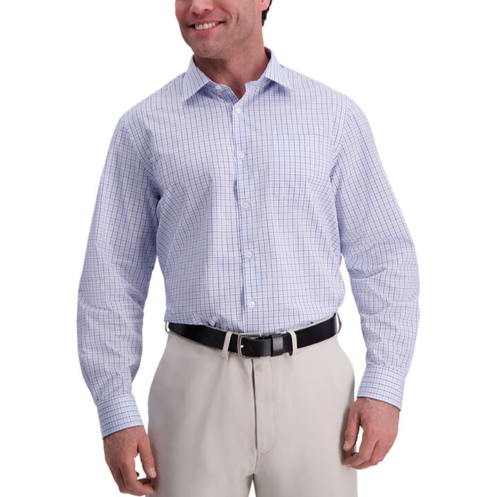 Pattern Premium Comfort Dress Shirt, Sky