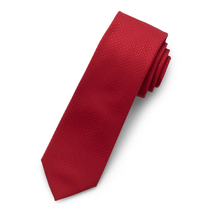 Solid Texture Tie, Red