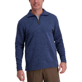 Quarter Zip Fleece, Peacoat