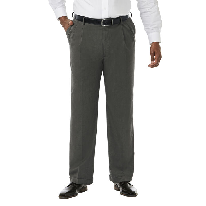 Big & Tall Premium Stretch Dress Pant, Black / Charcoal