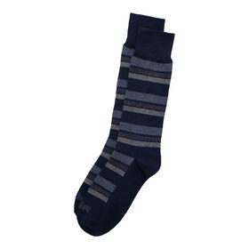 Block Stripe Sock, Navy