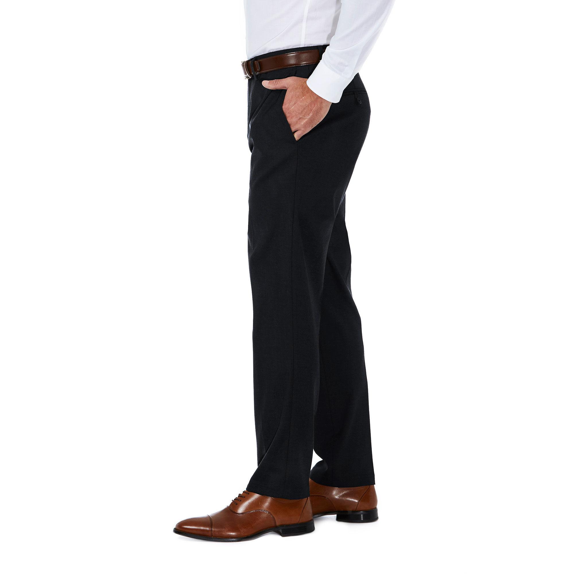 Haggar Mens Subtle Plaid Stretch Slim Fit Suit Separate Pant J.M