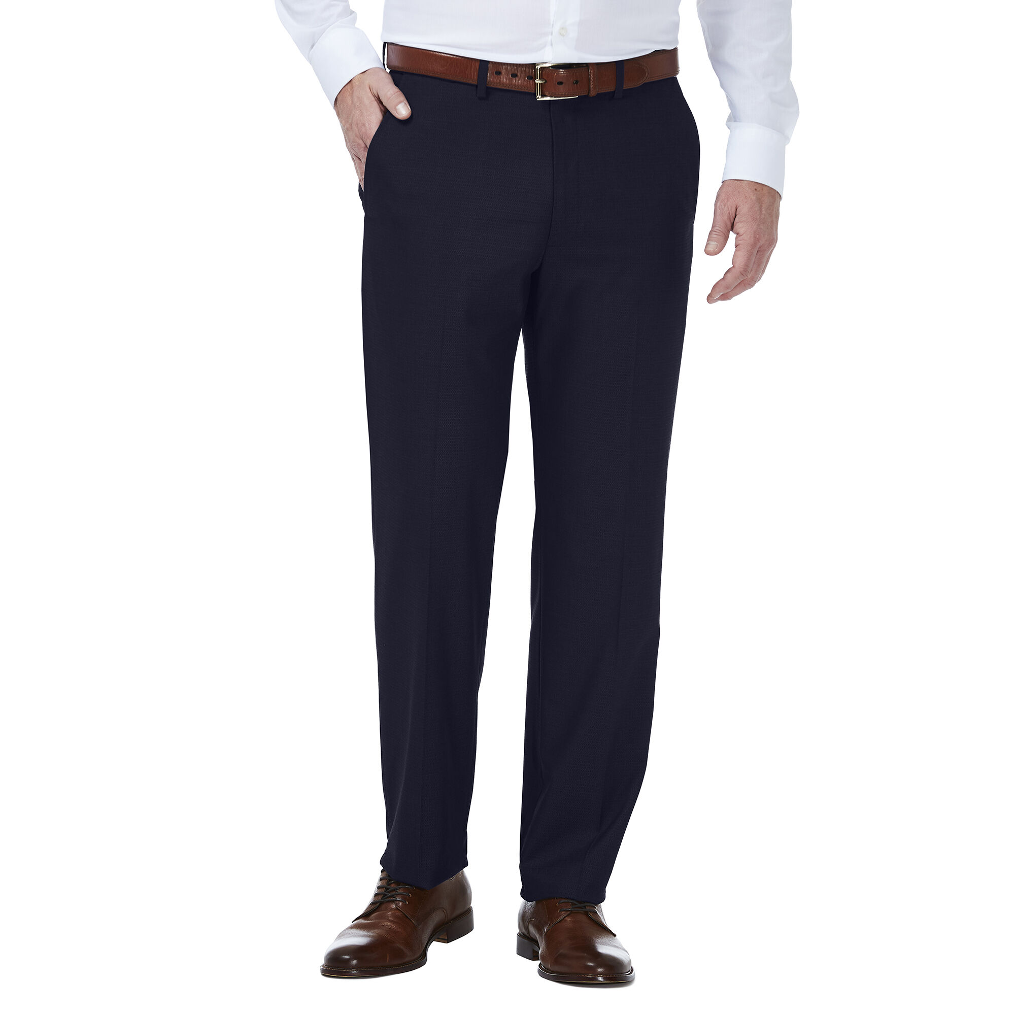 J.M Haggar Mens Premium Dobby Slim Fit Suit Separate Pant