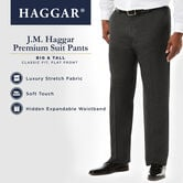 Big & Tall J.M. Haggar Premium Stretch Suit Pant - Flat Front, Medium Grey view# 5