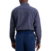 Heathered Gingham Shirt, Navy 2