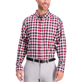 Heathered Gingham Flannel Shirt , Tibetan Red