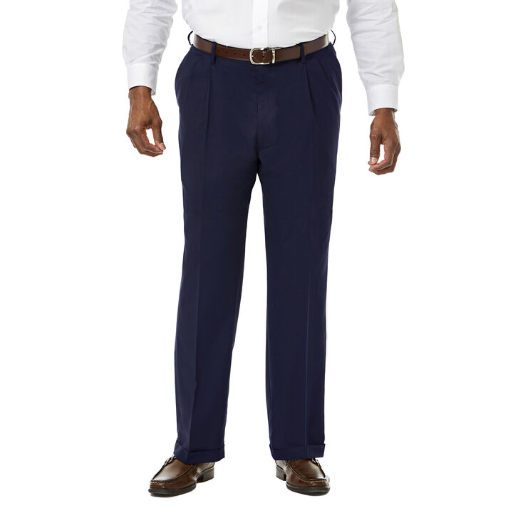 Big & Tall Premium Stretch Dress Pant, Navy open image in new window