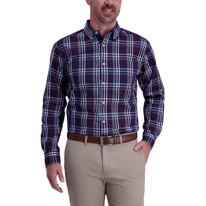 Multi Color Plaid Shirt, Aubergine