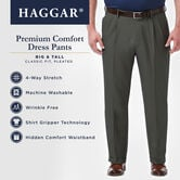 Big & Tall Premium Comfort Dress Pant, Medium Grey view# 4